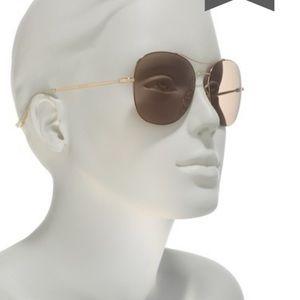 Authentic Gucci 58mm round Aviator Sunglasses